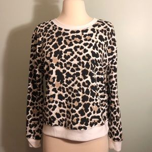 NWOT - Junior's Cheetah Print Sweatshirt